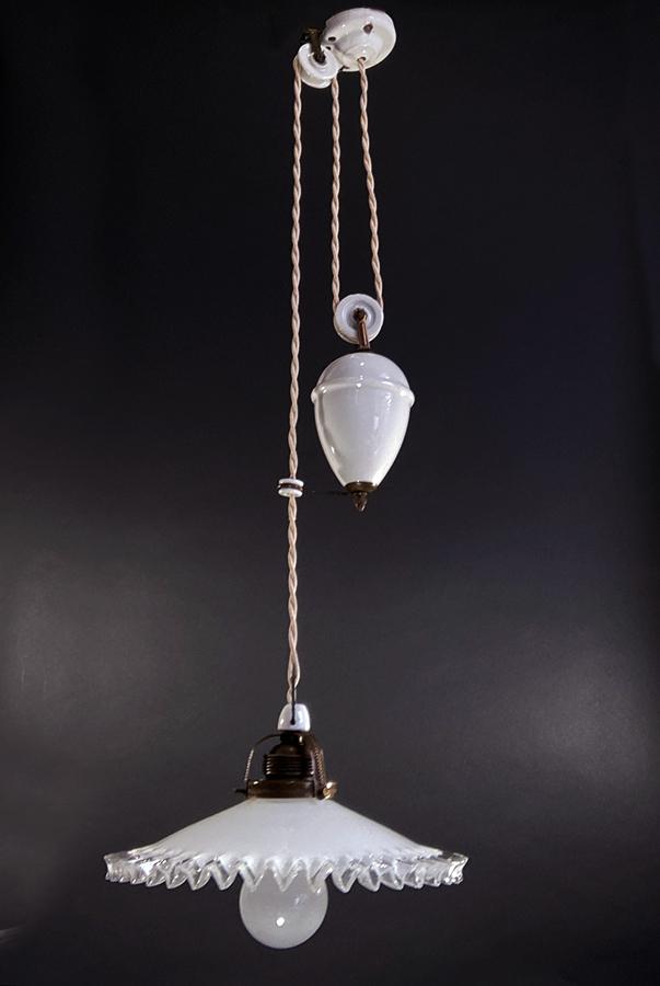 """画像1: 1920-30's French Country  """"Rise&Fall"""" Pendant Lamp  【E26電球仕様】 (1)"""