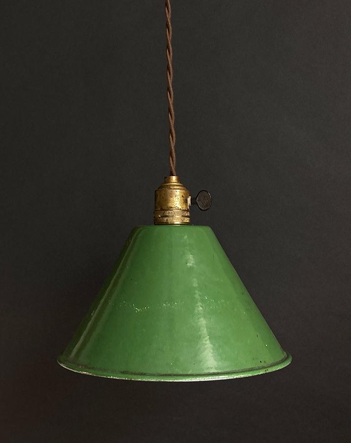 """画像1: 1940-50's """"Enamel Shade"""" Pendant Lamp (1)"""