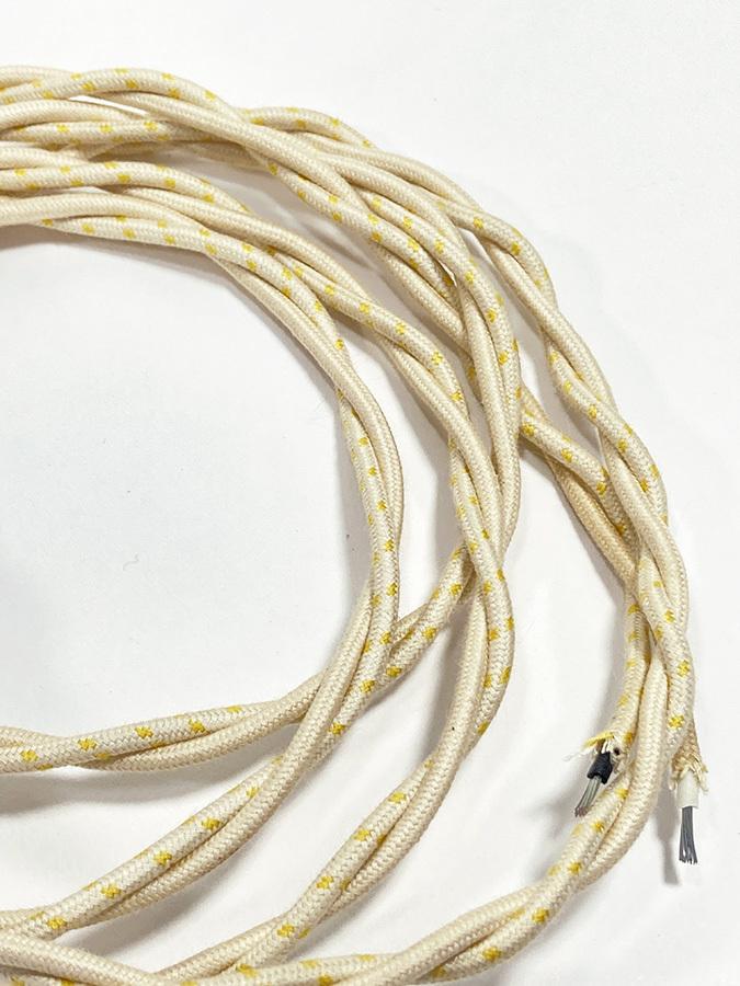 """画像1: 1950-60's French vintage """"Twisted"""" Electric cord  【170cm】 (1)"""