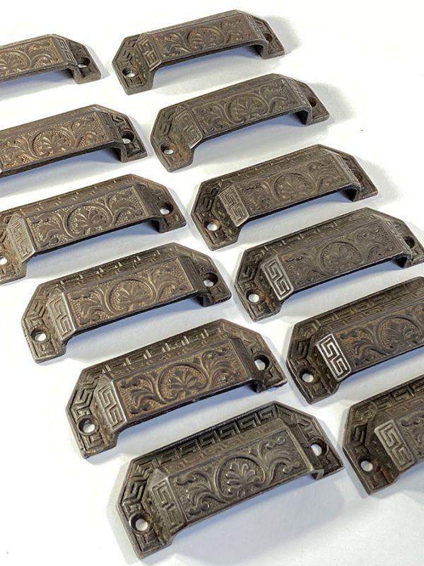 """画像1: 1910's """"Victorian"""" Cast Iron pull handles  【12-sets】 (1)"""