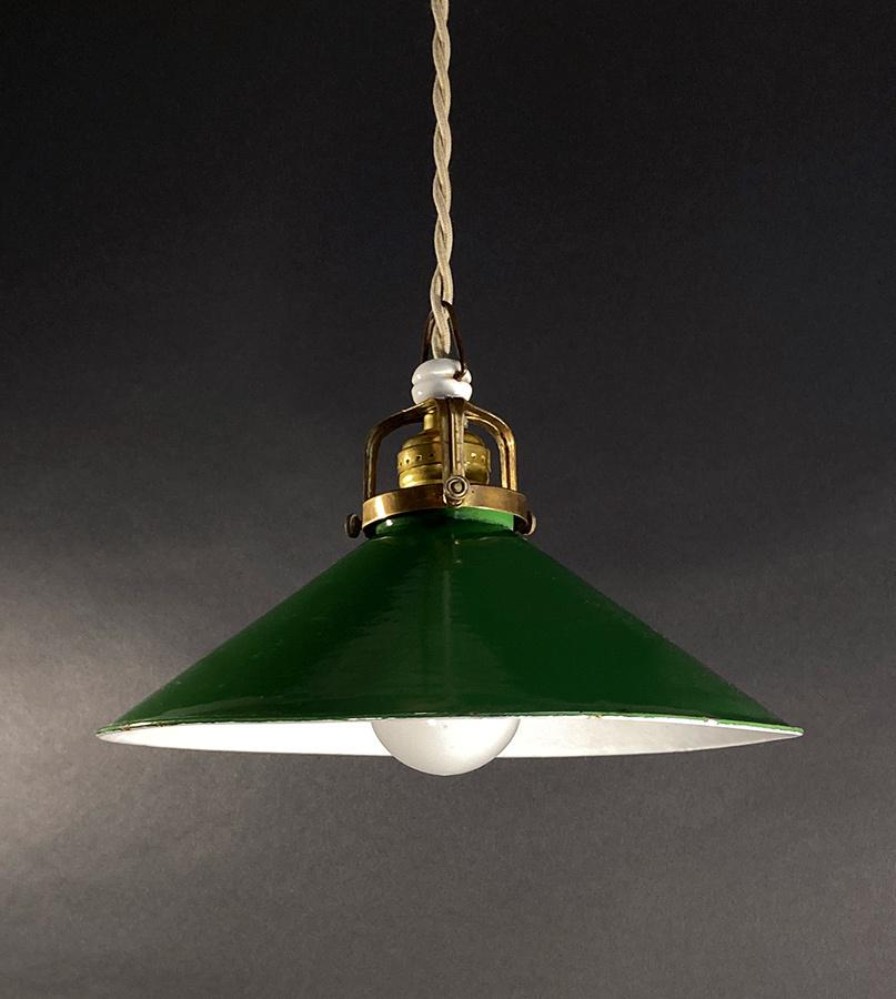 """画像1: 1930's Germany """"Enamel Shade"""" Pendant Lamp (1)"""