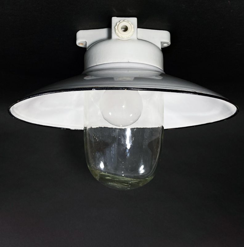 画像1: 1930's German Deco Ceiling Light (1)