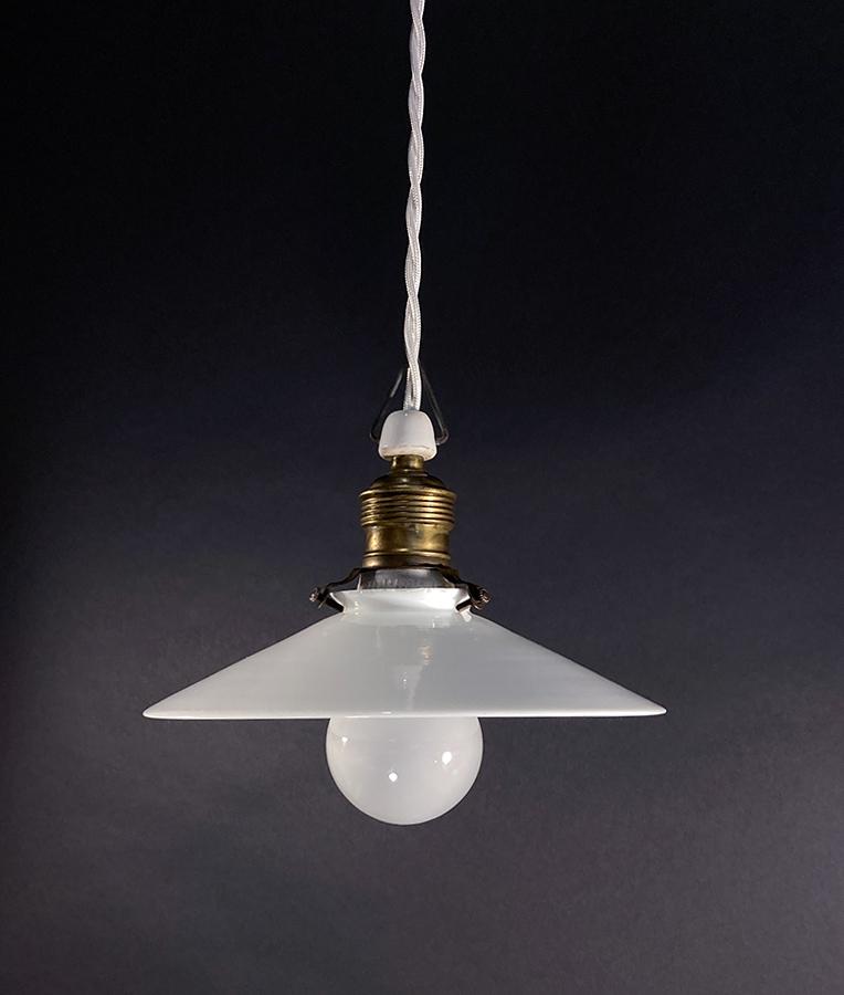 """画像1: 1930's German-Deco """"Milk Glass"""" Pendant Lamp (1)"""