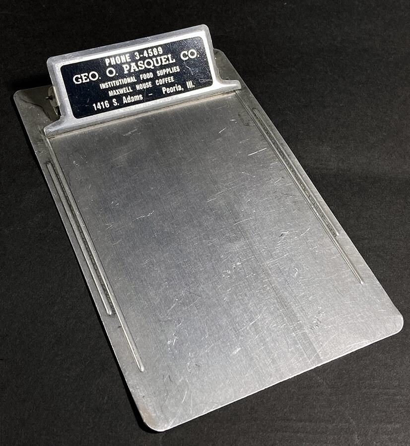 画像1: 1940's Aluminum Advertising Clip Board (1)
