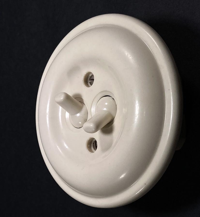"""画像1: 1950's """"GERMANY"""" Bakelite Dual Switch (1)"""