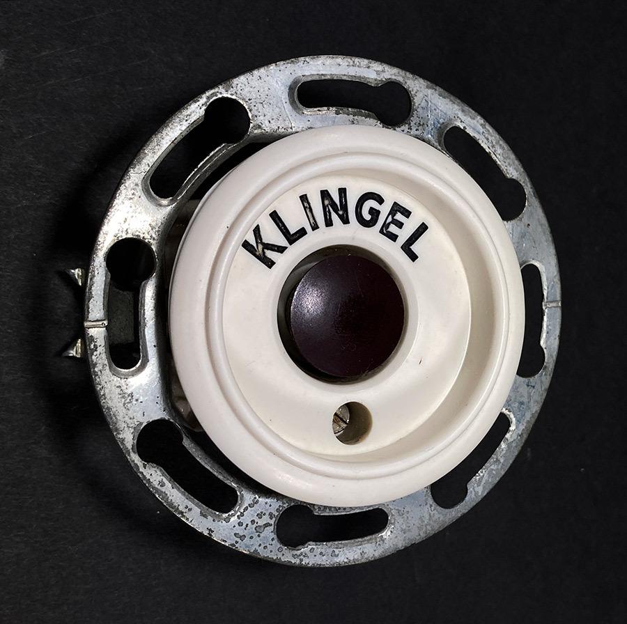 """画像1: 1950's German """"KLINGEL"""" Bakelite Bell Switch (1)"""