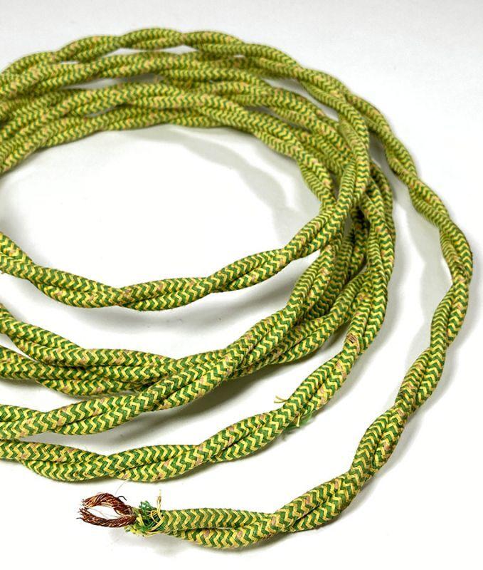 """画像1: 1950's """"Twisted"""" Electric cord  【265cm】 (1)"""