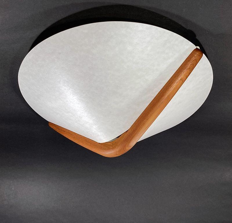画像1: 1960-70's【DOMUS】German Wood Ceiling Light (1)
