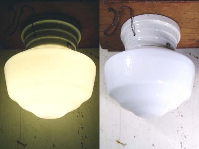 画像1: 1920-30's Glass Shade Ceiling or Wall Lamp Art-Deco (1)