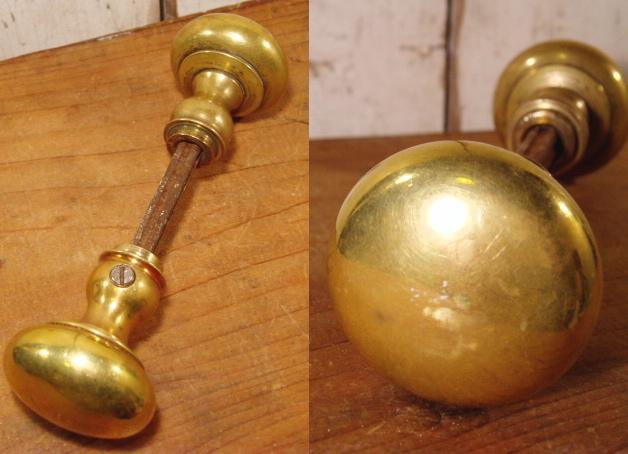 画像1:  Antique Brass Doorknob (1)