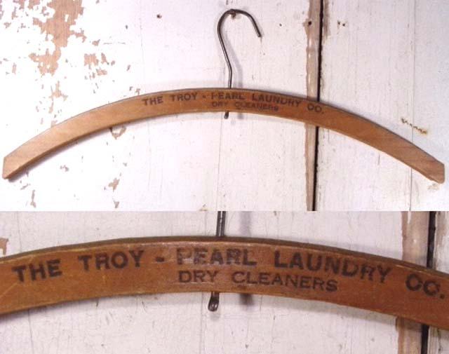 """画像1:  """"Advertising"""" Antique Wood Hanger   (1)"""