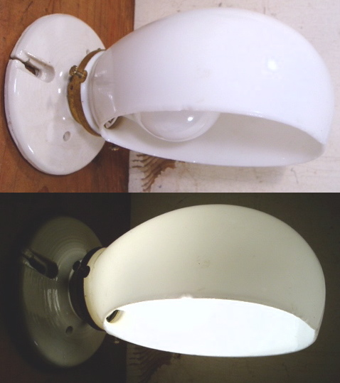 画像1: 20-50's Ceramic Bathroom Lamp (1)
