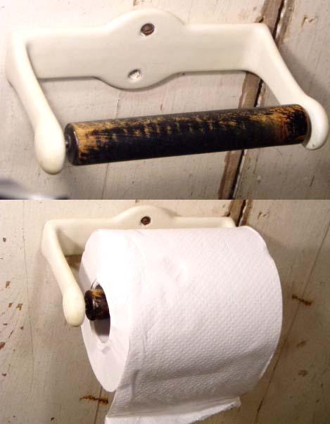 """画像1:  1930-40's """"Rustic"""" Toilet Paper Holder (1)"""