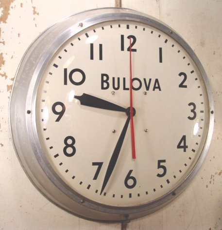 """画像1: 40's BULOVA """"LARGE"""" Aluminum Garage Clock (1)"""
