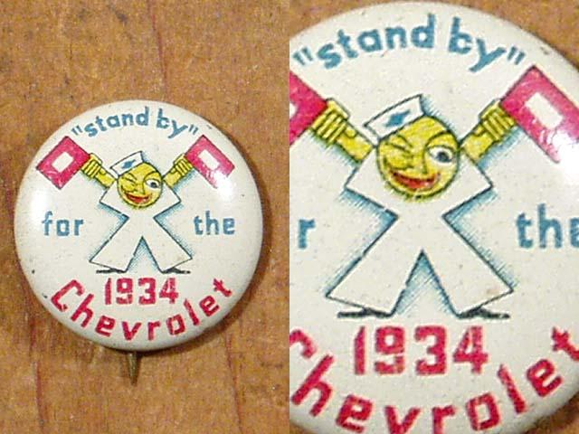"""画像1: """"1934"""" Chevrolet Character Pin Badge (1)"""