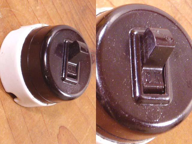 """画像1: 【Dead Stock】Antique """"Porcelain Base"""" Switch (1)"""