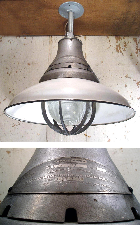 """画像1: 1950's """"Enamel Shade"""" Gas Station Light (1)"""