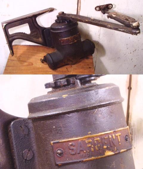 画像1: 1920-30's Door Closer (1)