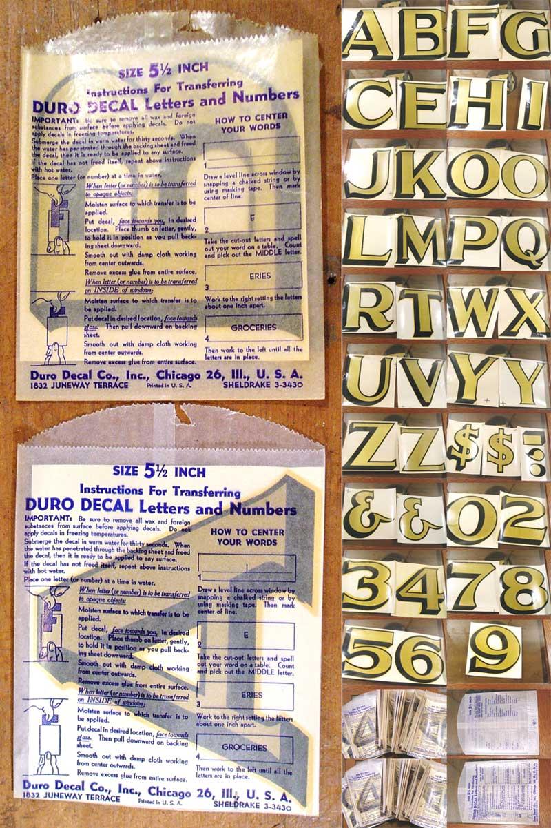 """画像1: """"105-sheets"""" 1930's BIG Font DECAL【BLACK×GOLD】 (1)"""