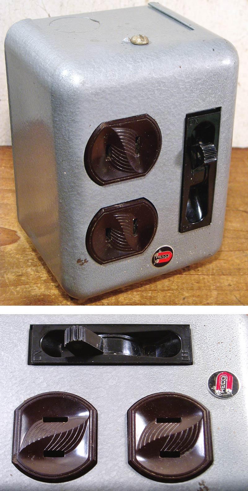 """画像1: 1940-50's """"DUAL"""" Surface Mount Switch&Outlets (1)"""