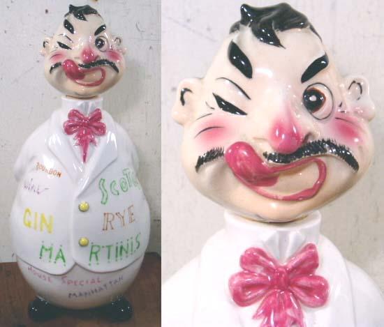 """画像1: Vintage Ceramic Character Liquor """"DECANTER"""" (1)"""