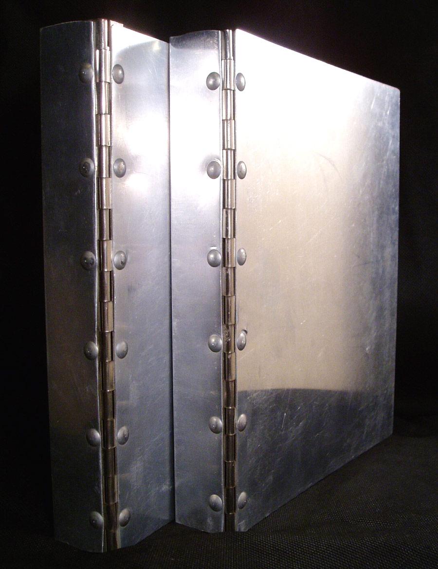 """画像1: 1940-50's """"Machine Age"""" Aluminum Riveted BINDER (1)"""