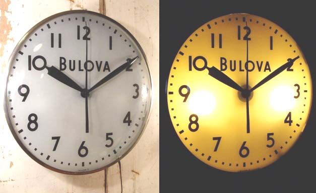 "画像1:  50's Vintage BLOVA ""Light clock"" White Dial (1)"