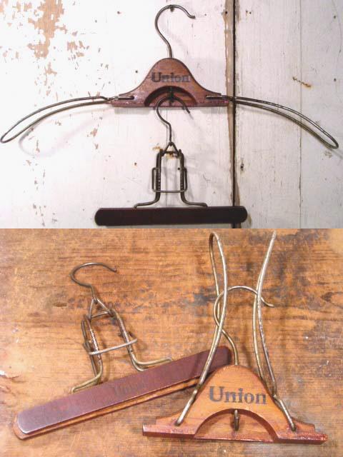"""画像1:  Antique """"UNION""""Folding Jacket Hanger&Trousers Hanger (1)"""