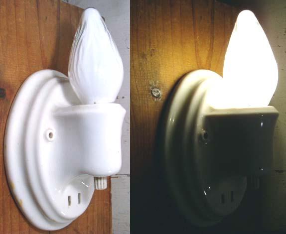 """画像1:  """"Ceramic"""" Antique Country Candle Lamp (1)"""